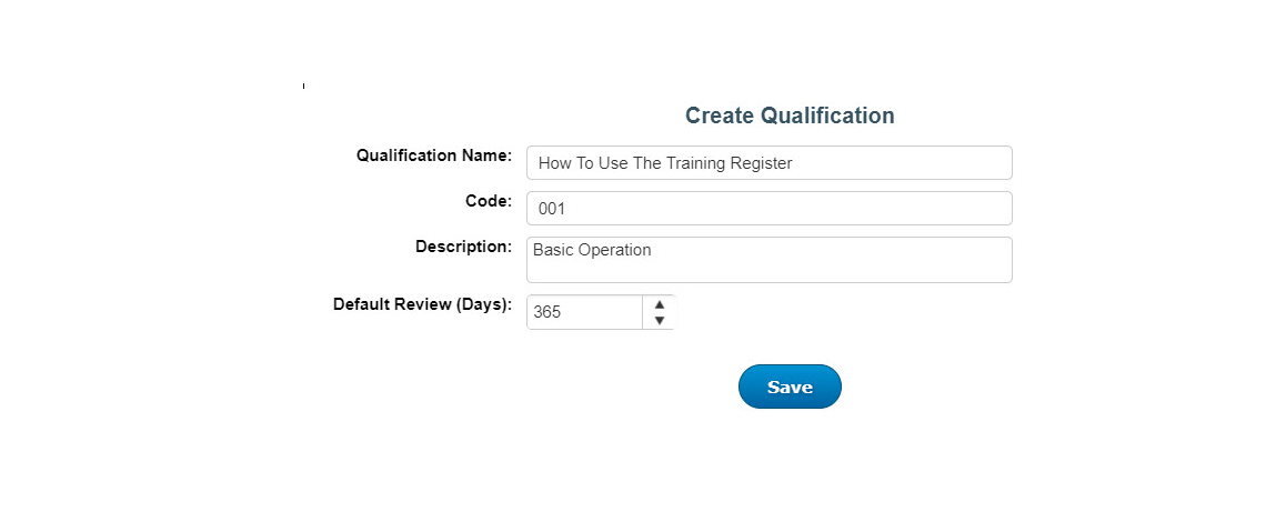 create qualifications